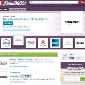 Back to School Shopping with RetailMeNot.ca