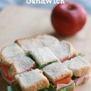Checkerboard Turkey Sandwich