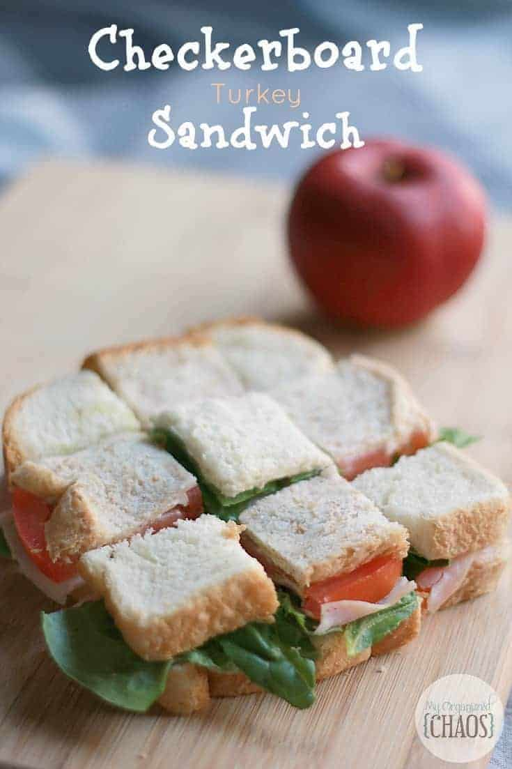 Cut and flip a few sandwich sections to make a checkerboard pattern, back to school lunch success. School lunch ideas and hacks to beat the mundane.