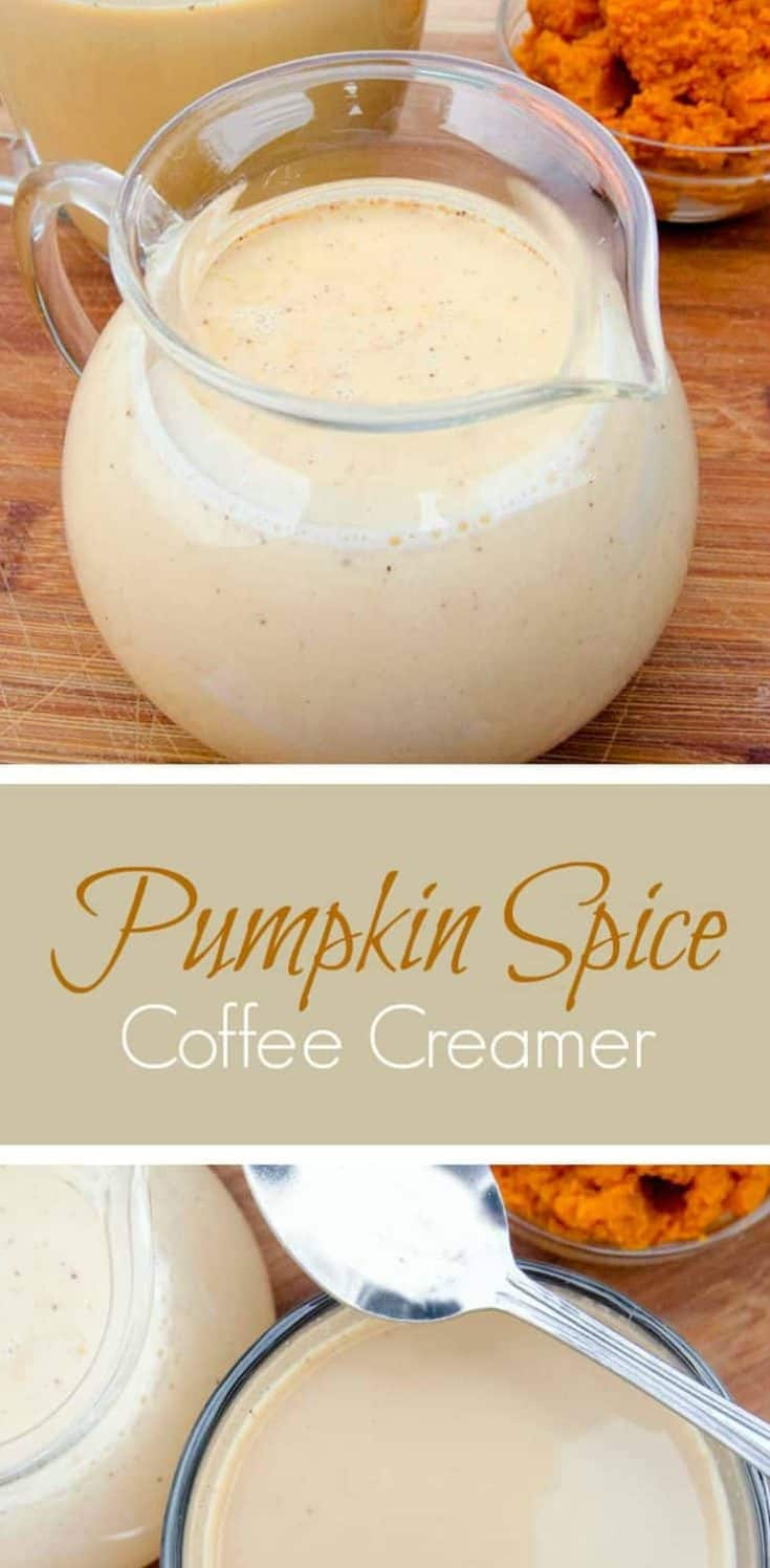 Easy recipe for the lust-worthy Pumpkin Spice Coffee Creamer, using just 6 yummy ingredients. Pumpkin Spice all the things!!! You're welcome. #pumpkinspice #coffeecreamer