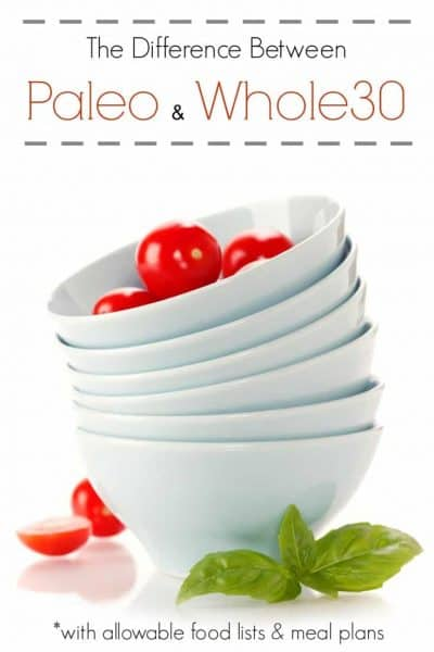 The Difference Between Paleo and Whole30