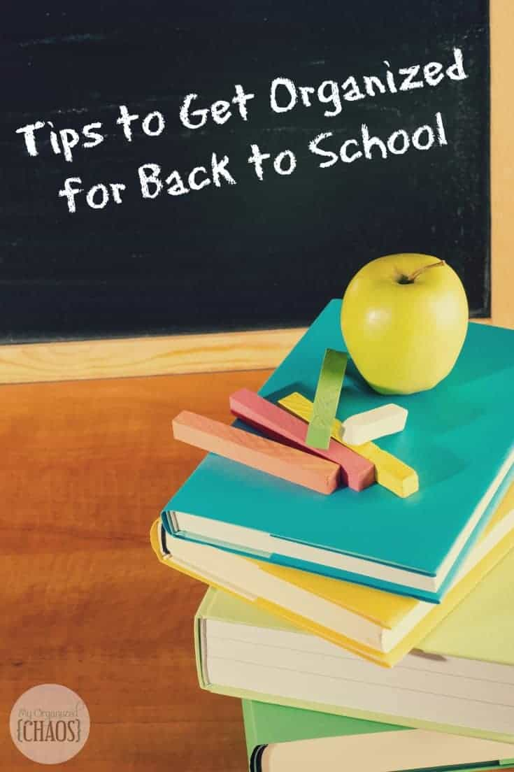 Tips to Get Organized for Back to School