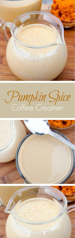 make your own Pumpkin spice coffee creamer recipe