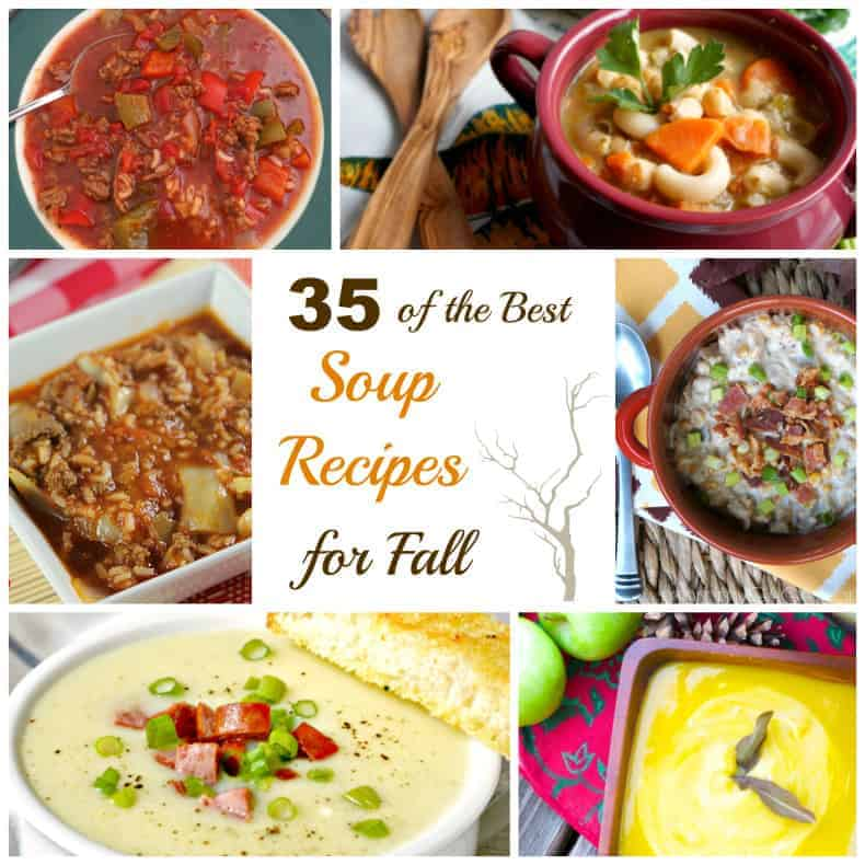 Here is a collection of 35 best soup recipes for fall to warm you up