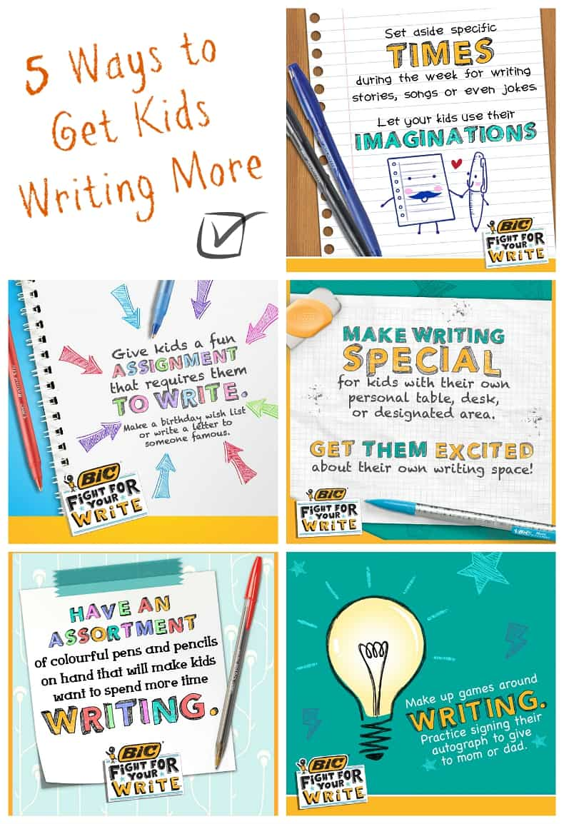 5 ways to get kids writing more often