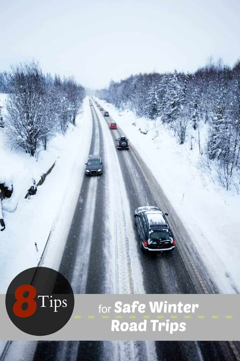 8 tips for safe winter road trips