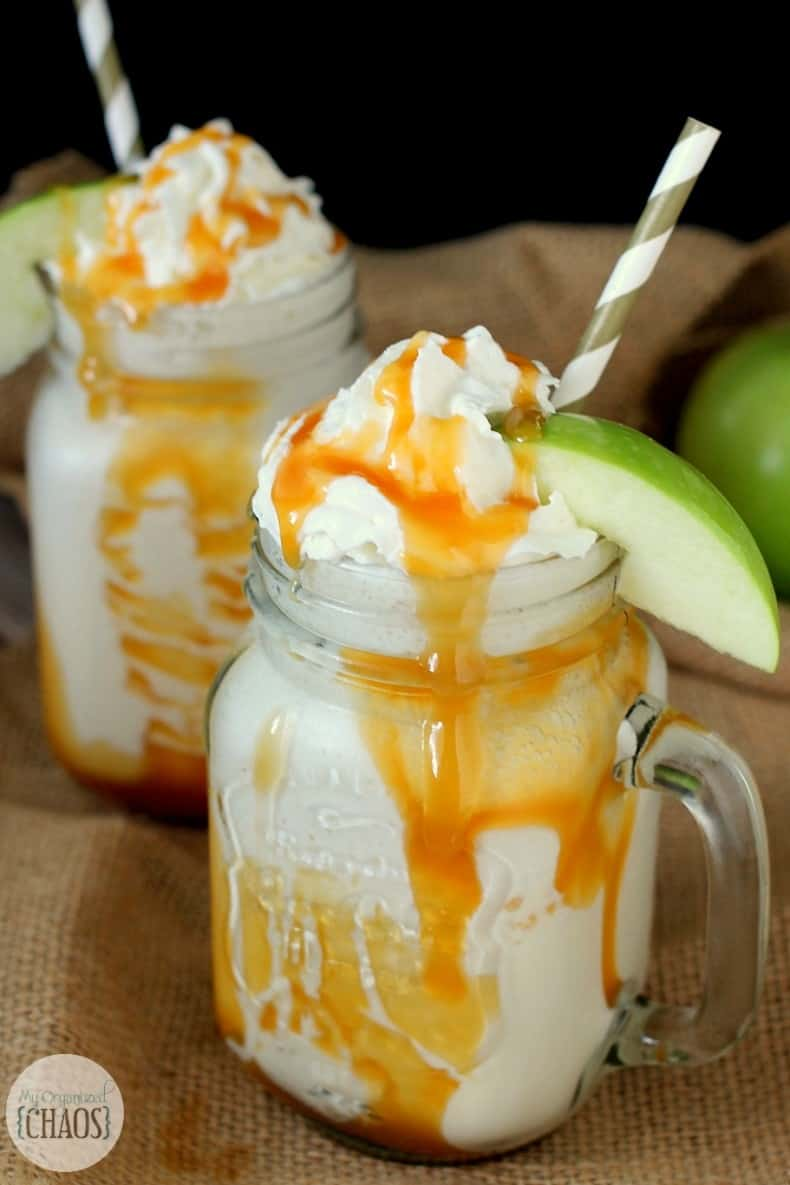 Caramel Apple Milkshake easy recipe