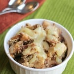 slow cooker apple crisp vanilla sauce