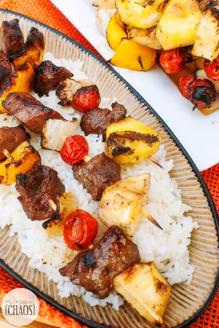 is skewered up and grilled to perfection. Asian Beef Marinated Kabobs ...