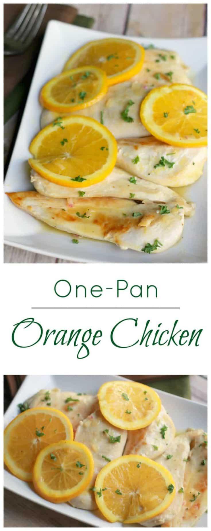 Not only is this One-Pan Orange Chicken a 30-Minute Easy Dinner, yet it's one that requires few ingredients. #chickenrecipe #orangechicken