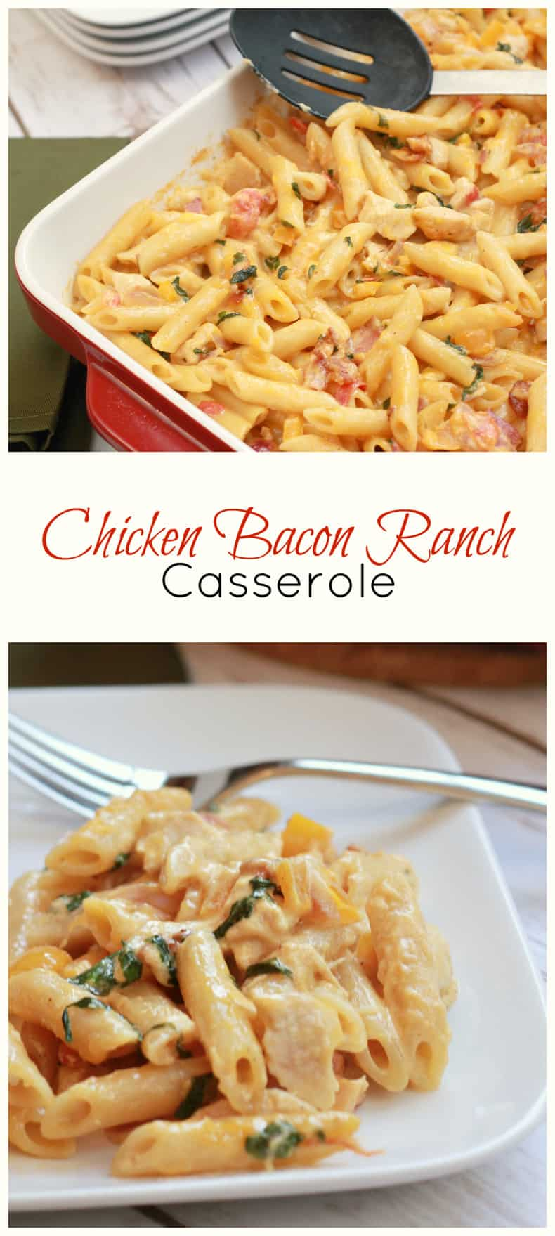 chicken bacon ranch casserole one dish recipe