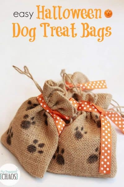 Easy Halloween Treat Bags for Dogs