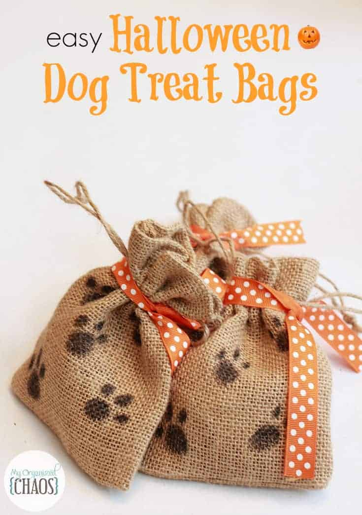 Dog Treat Bags Paw Prints
