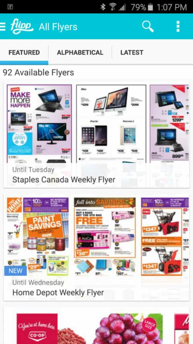 flipp app saving money canada