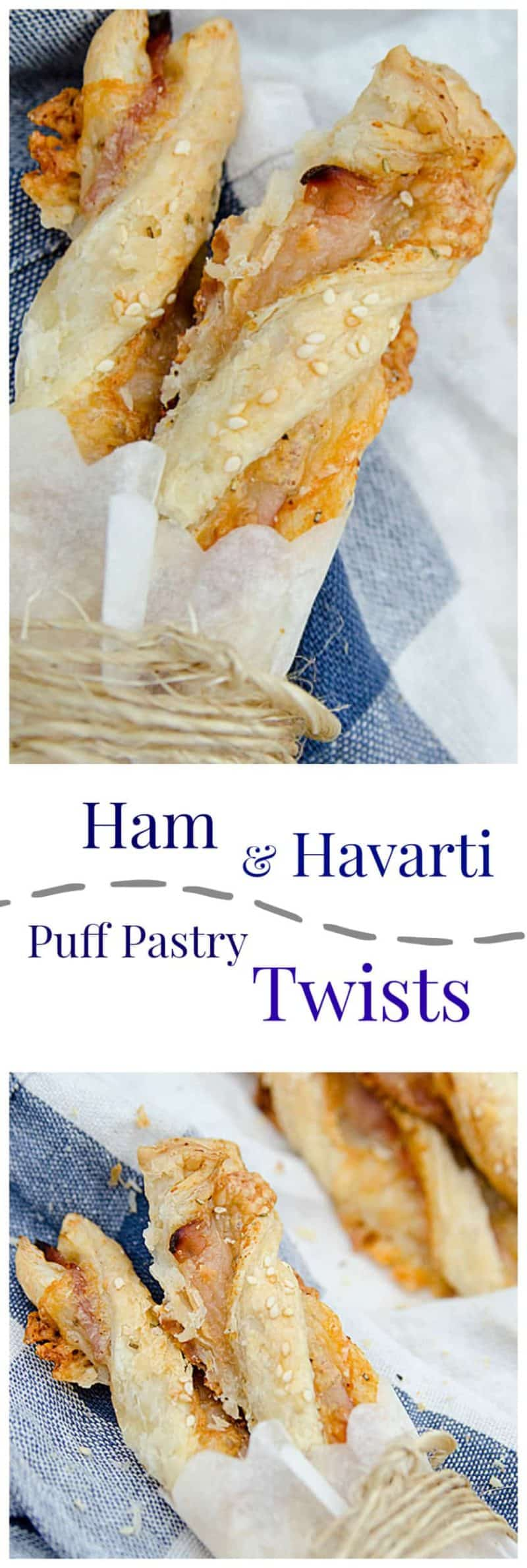 ham and havarti puff pastry twists