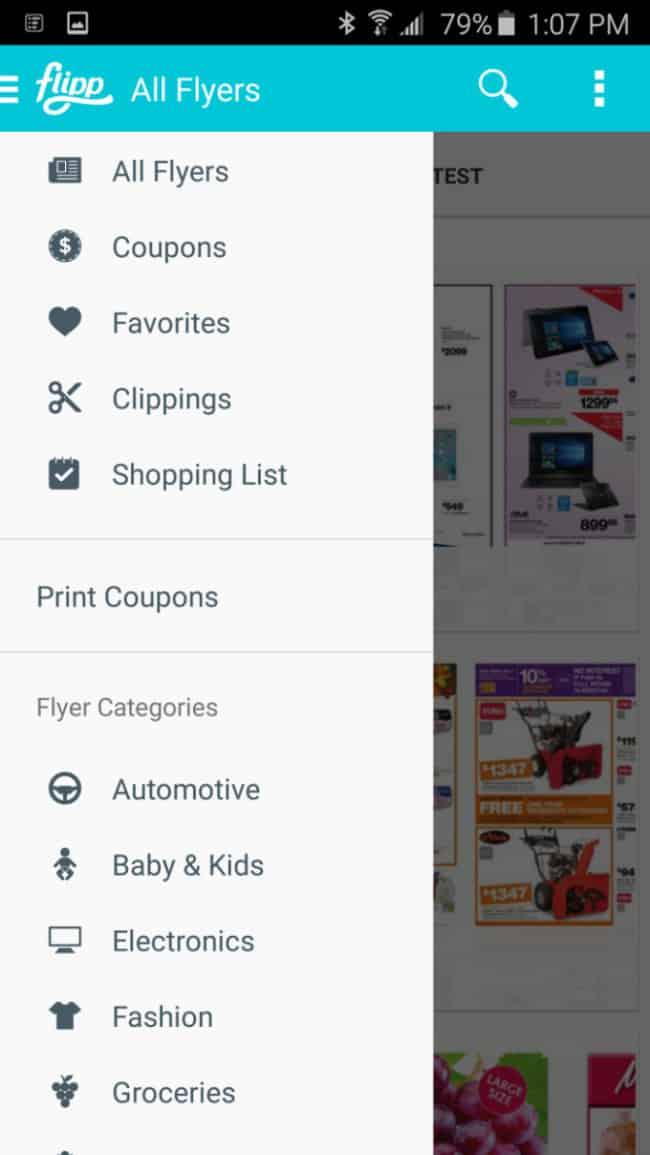 saving money weekly shop flipp app