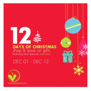 Limeapple's 12 Days of Christmas Sale