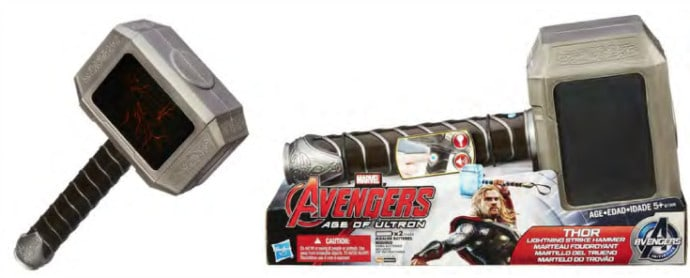 MARVEL'S AVENGERS AGE OF ULTRON THOR LIGHTNING STRIKE HAMMER