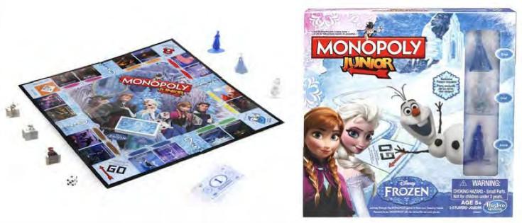 MONOPOLY JUNIOR Disney Frozen Edition Game