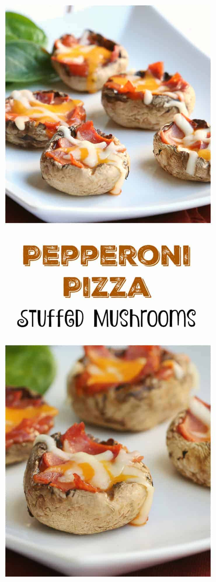 Pepperoni Pizza Stuffed Mushrooms Appetizer Recipe