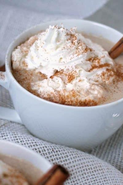 Slow Cooker White Chocolate Cinnamon Hot Chocolate