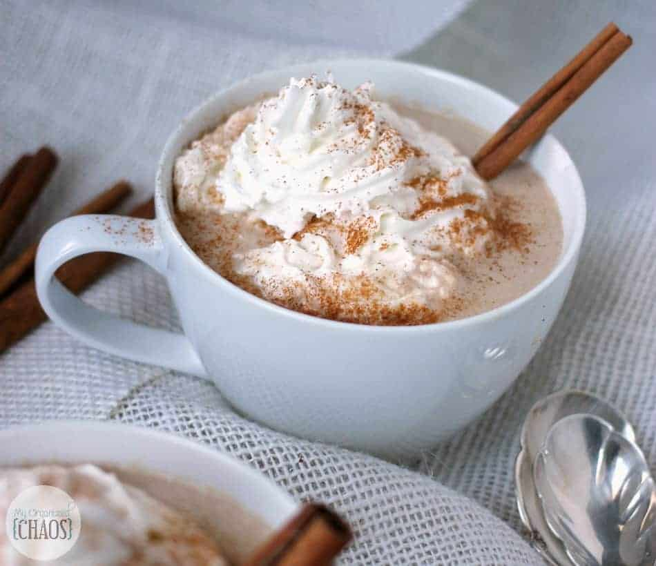 Slow Cooker White Chocolate Cinnamon Hot Chocolate recipe