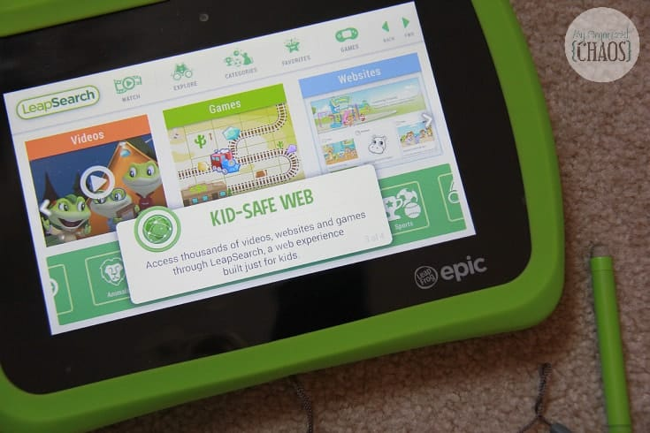 kid safe web browsing leapfrog epic