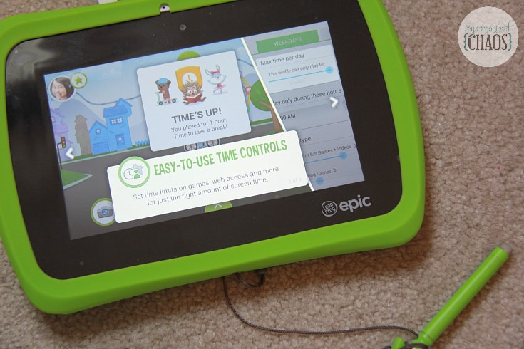 leapfrog epic parental controls time limits