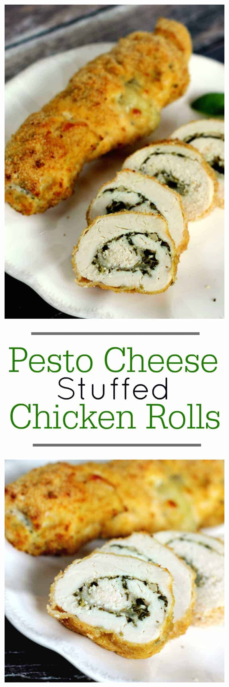 pesto cheese stuffed chicken rolls main dish recipe