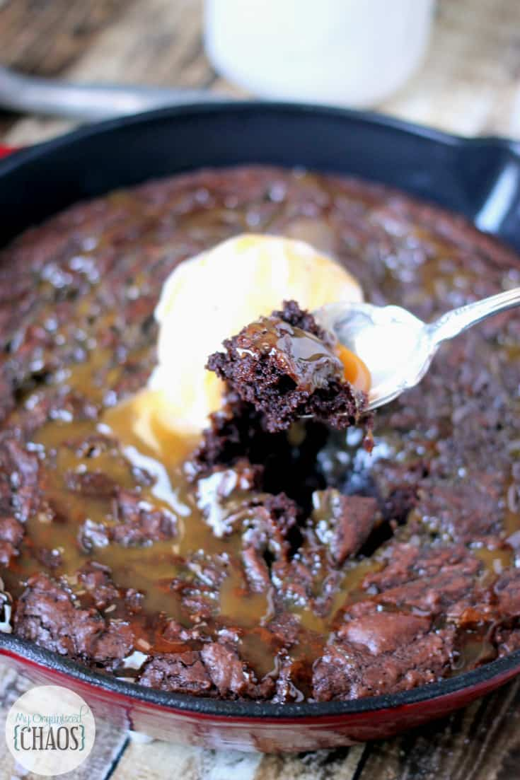 Salted Caramel Skillet Brownies incredible dessert recipe