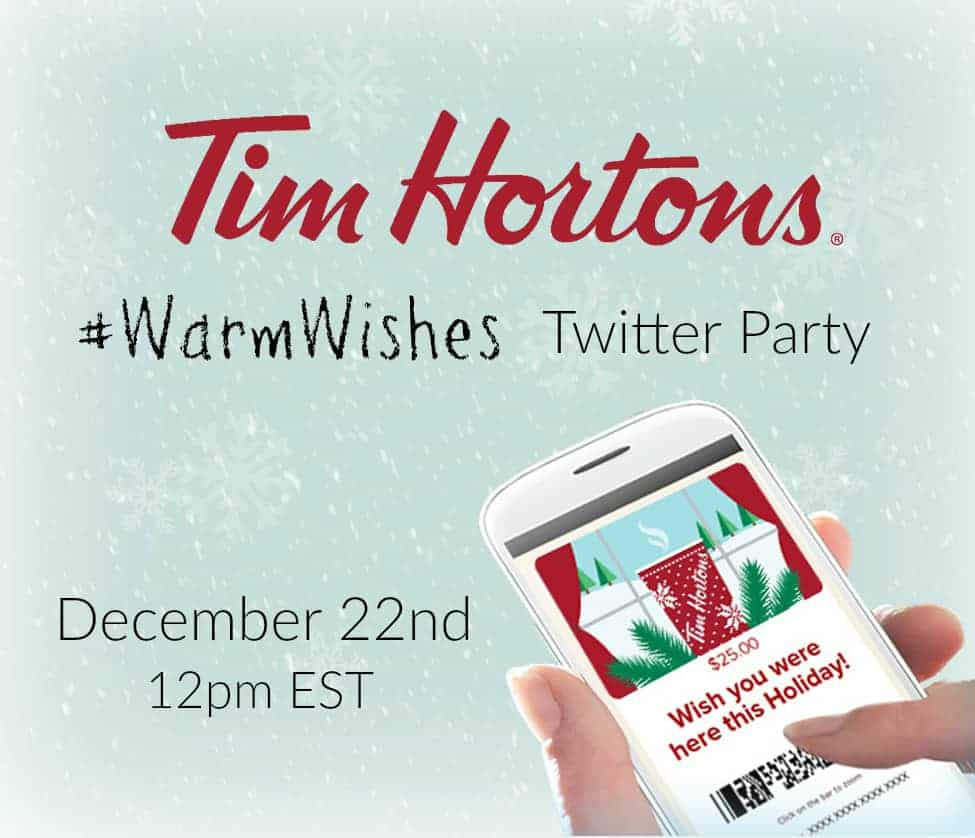 Don't Miss the #WarmWishes Twitter Party with Tim Hortons