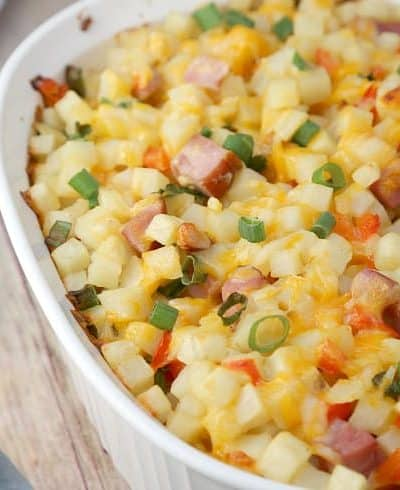 Cheesy Ham Breakfast Casserole