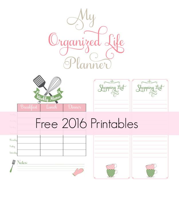 my organized life 2016 meal planner