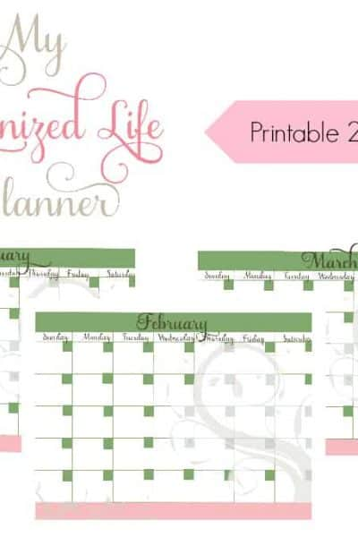My Organized Life – Printable 2016 Calendar