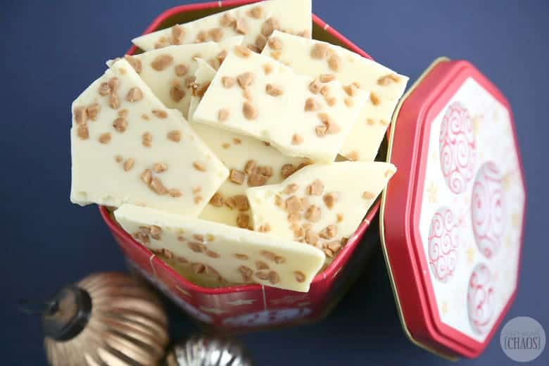 white chocolate toffee bark