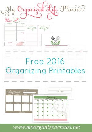 My Organized Life Printable Planner