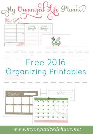 2016 Free Organizing Printables