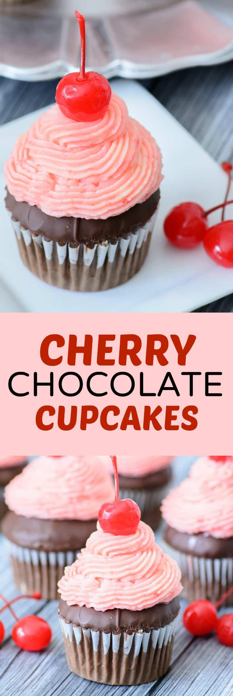 cherry chocolate cupcakes recipe