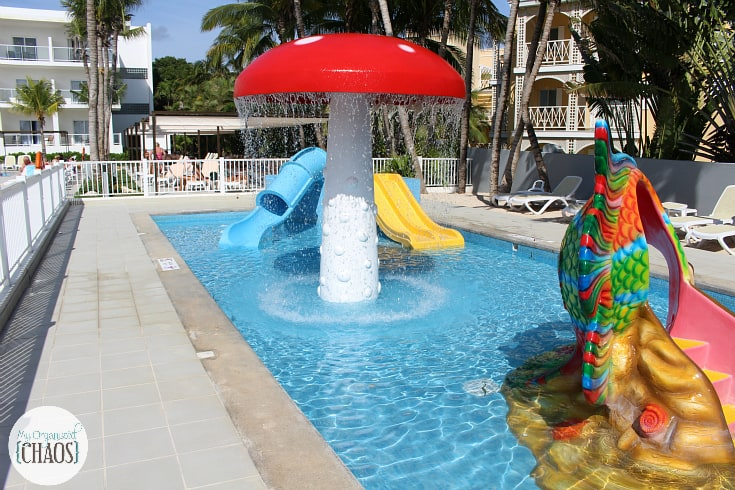 riu playacar kids club pool slides
