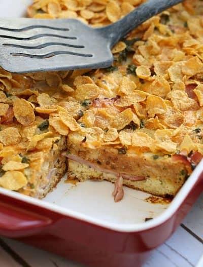 Ham & Cheese Brunch Strata