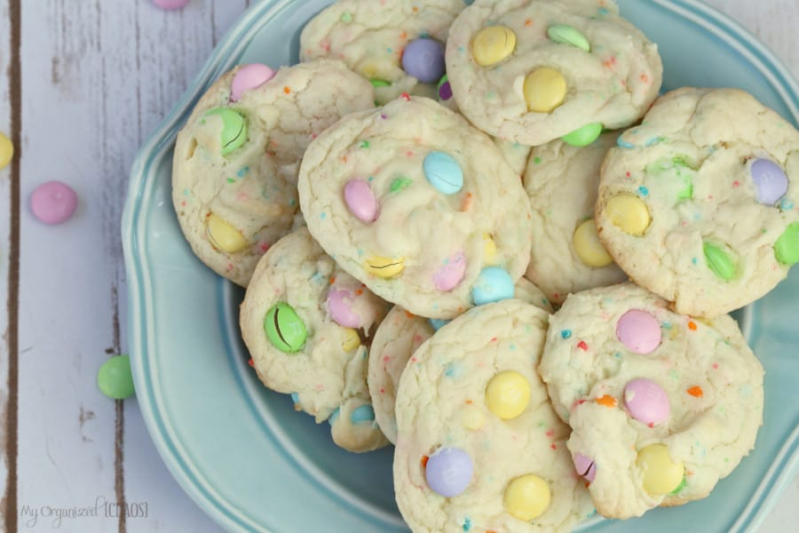 M&M funfetti cake mix cookies