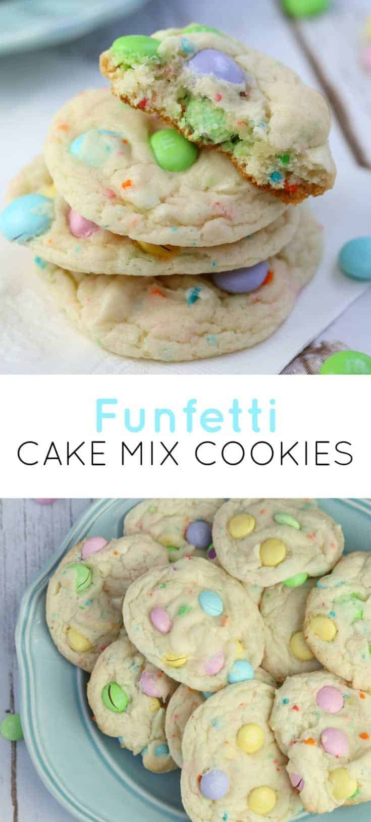 Funfetti Cake Mix Cookies is one of my favourites, I just love the spring 'Eastery' look and the moist cake-like taste. This is one amazing cookie, guys! #cakemixcookies #cookies #cookierecipe #funfetti