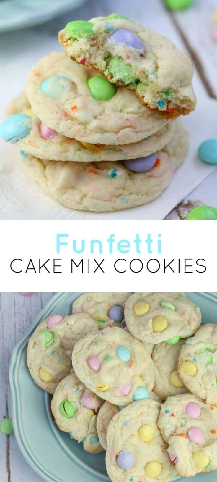 M&M funfetti cake mix cookies recipe