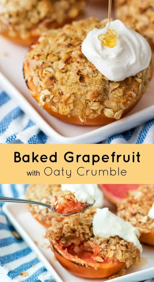 baked grapefruit with oat crumble recipe