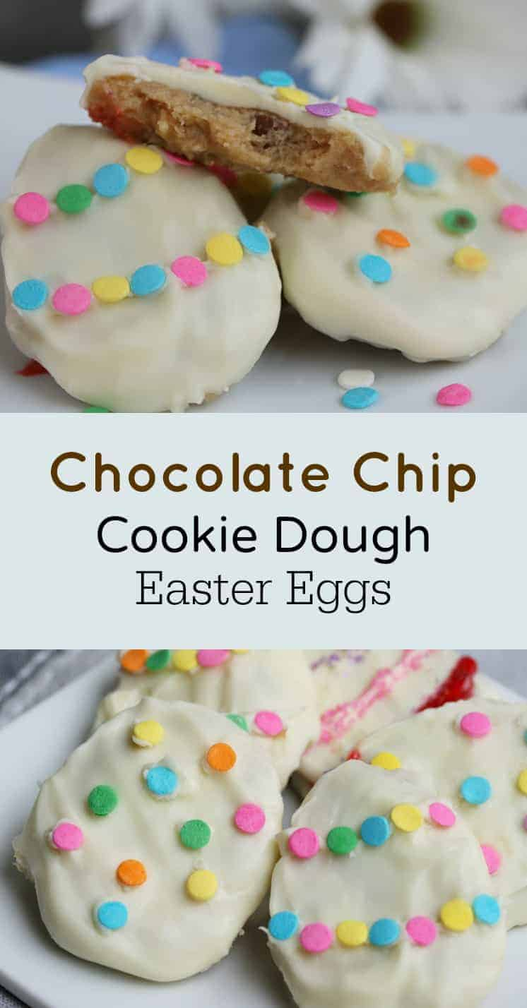 chocolate chip cookie dough easter egg