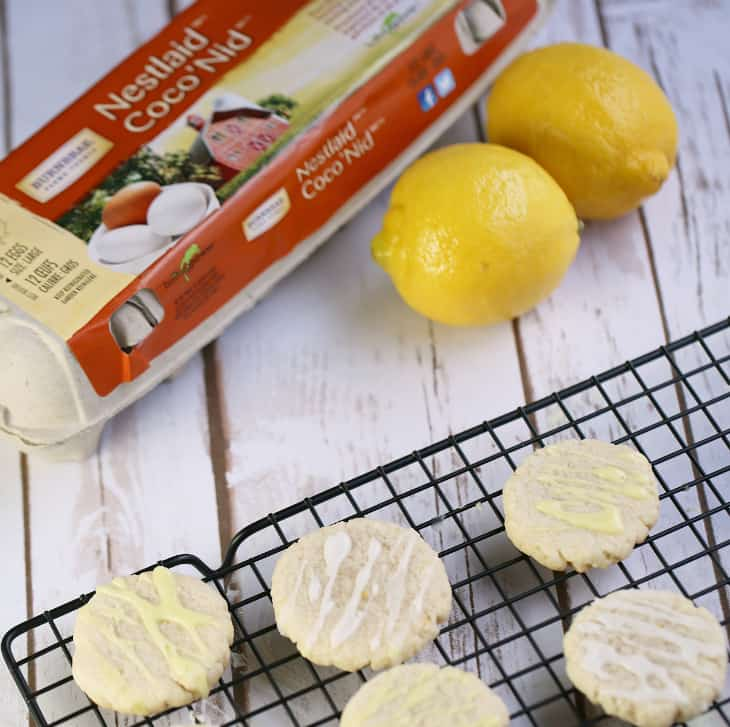 eggsforlife recipe glazed lemon cookies