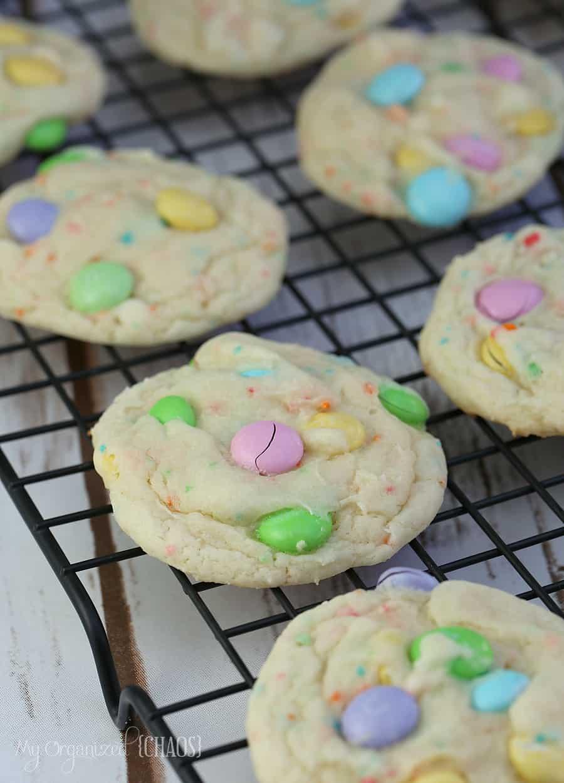 funfetti cake mix cookies M&M
