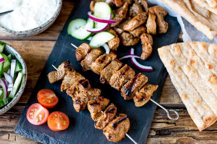 Lamb Skewers with Sour Cream Dip