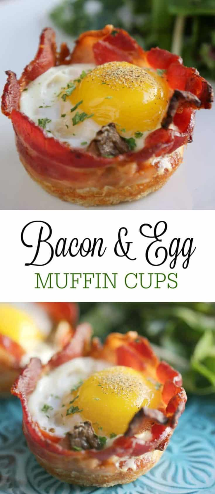 These two champion ingredients are the stars in one of my favourite easy breakfasts or brunches - Bacon & Egg Muffin Cups. #lowcarb #baconeggcups #keto