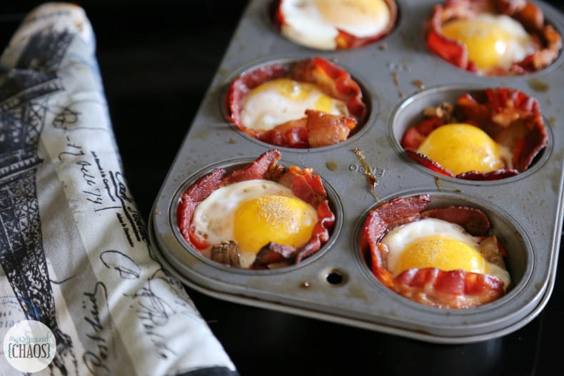 bacon eggs and toast muffin cups easy recipe